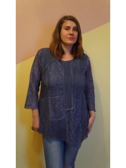 Bluza dama albastra, lunga