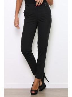 Pantaloni negri cu talie inalta