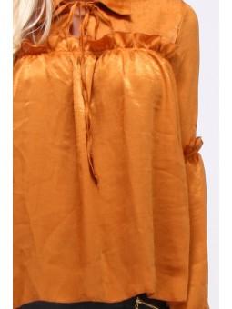 Bluza galbena cu manecile clopot