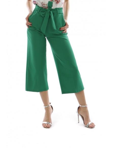 Pantaloni largi verzi