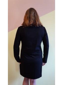 Rochie neagra cu imprimeu stilizat