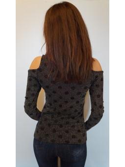 Bluza neagra cu fir metalizat