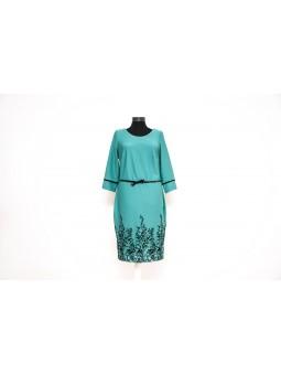 Rochie verde turcoise pe corp
