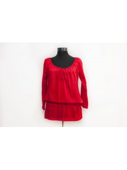 Bluza rosie cu maneca lunga