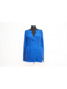 Pulover albastru cu anchior