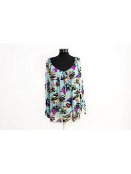 Bluza turcoise cu imprimeu