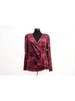 Bluza lila cu imprimeu negru