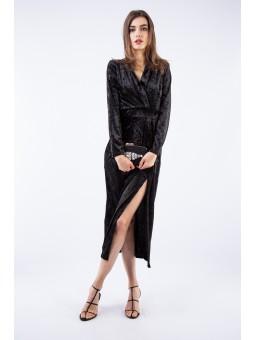 Rochie din catifea neagra