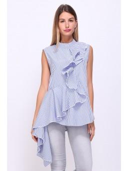 Bluza casual eleganta in dungi