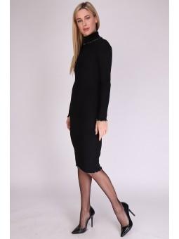 Rochie neagra tricotata cu...