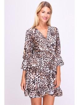Rochie cu imprimeu leopard