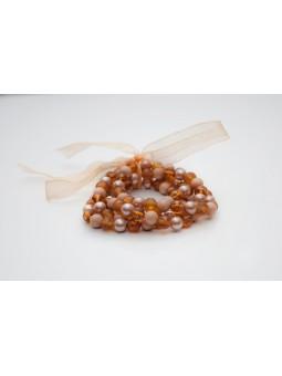 Bratara Orange Pearl