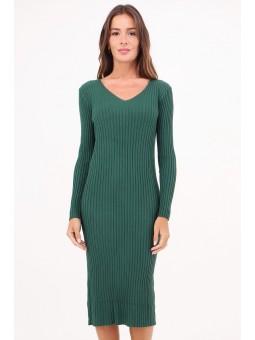 Rochie verde tricotata