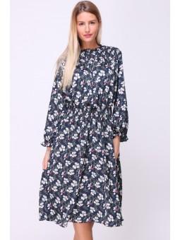 Rochie albastra cu imprimeu...