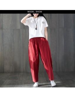Pantaloni rosii casual