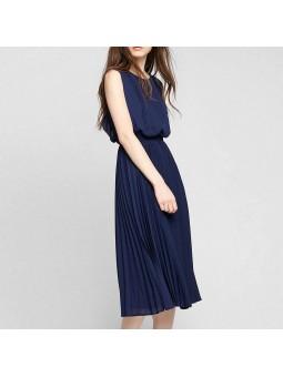 Rochie albastra midi