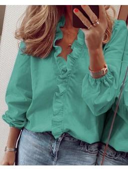 Bluza verde cu rujulet