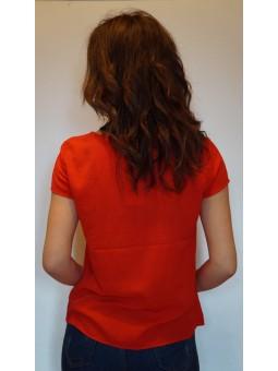 Bluza rosie gen ie cu motive brodate