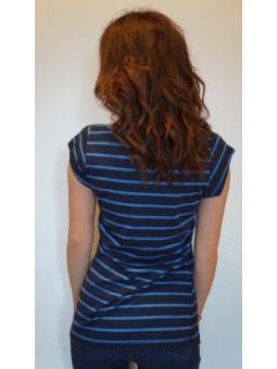Tricou dama cu dungi orizontale