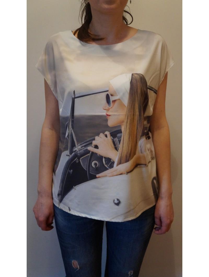 Bluza marimi mari cu imprimeu