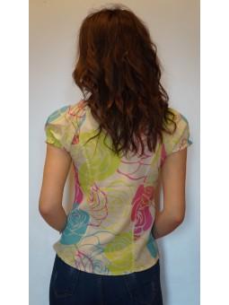 Bluza eleganta cu imprimeu discret floral