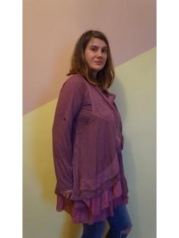 Bluza lunga lila