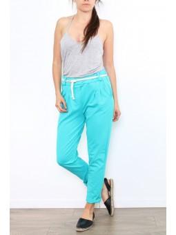 Pantaloni lungi turcoise