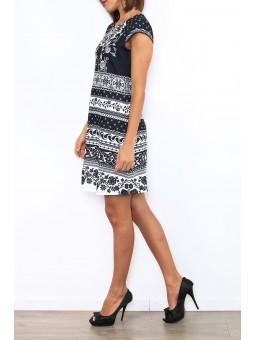 Rochie cu imprimeu alb- negru