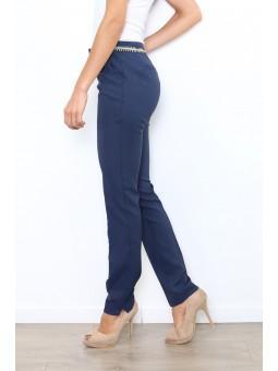 Pantaloni eleganti albastri
